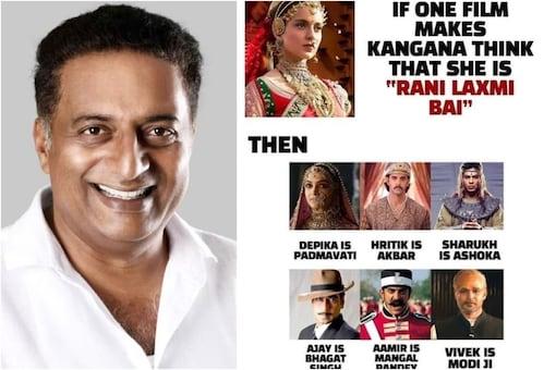 Prakash Raj Takes a Dig at Kangana Ranaut by Sharing a Meme