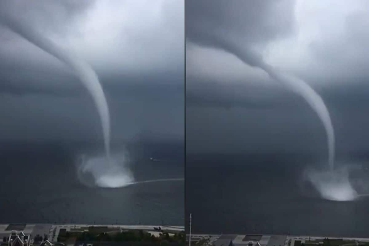 Watch: Footage of Massive Waterspout Over Dalian Bay in China Goes Viral