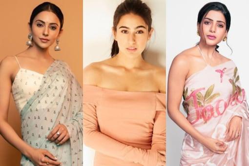 Rakul Preet Singh, Sara Ali Khan and Samantha Akkineni (L-R)