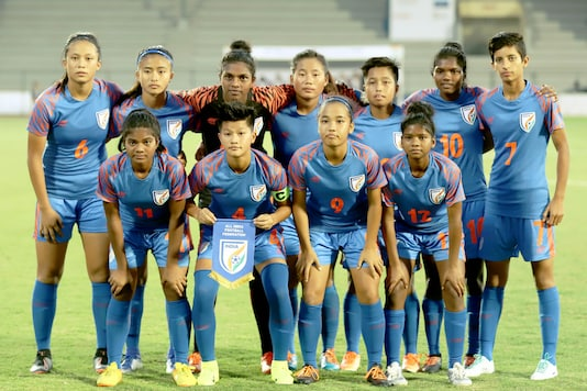 India's U-17 women's football team that played tournament with Sweden and Thailand. (Photo Credit: AIFF)