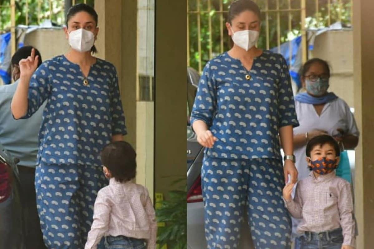 Kareena Kapoor Khan Looks Super Stylish As She Pays a Visit to Karisma Kapoor With Son Taimur