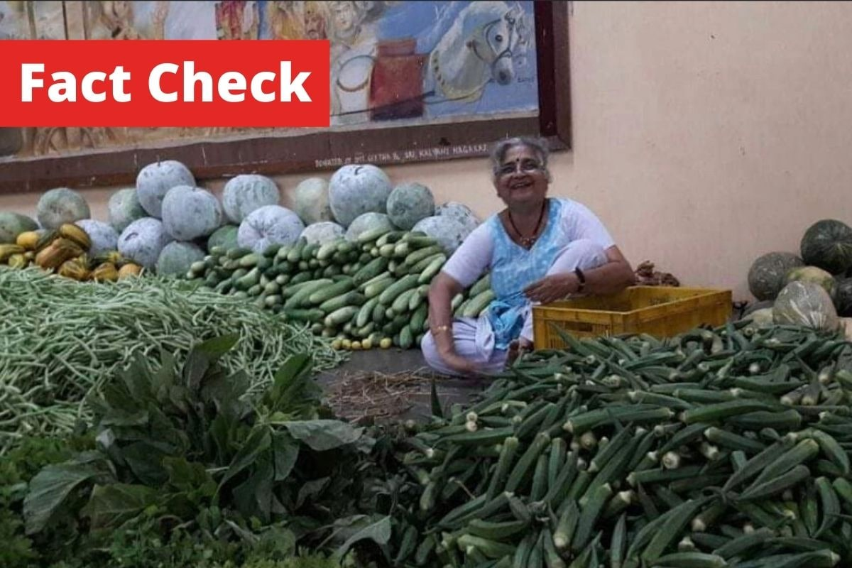 Seen Viral Image of Sudha Murthy 'Selling' Vegetables at Temple? This is The Story Behind it