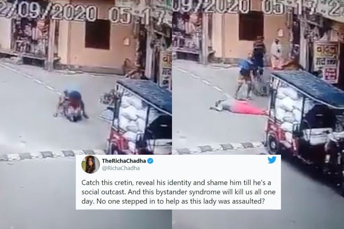 Elderly Woman Gets Beaten in Public by Man in Viral Video, Internet Outraged - News18