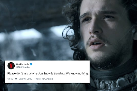 Why is Jon Snow trending? We swear we know nothing | Image credit: Twitter