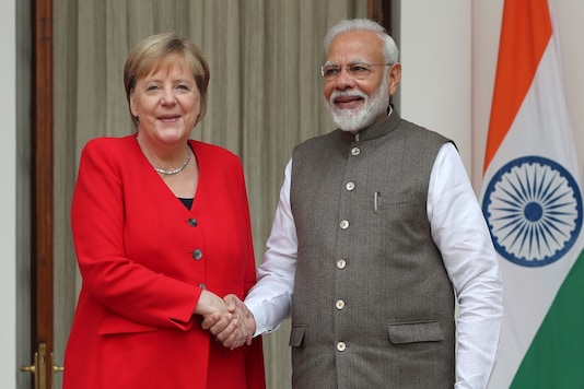 File photo of German Chancellor Angela Merkel with Prime Minister Narendra Modi.