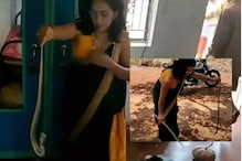 Viral Video of Saree-clad Woman Catching a Snake with Her Hand is Leaving Netizens Thrilled