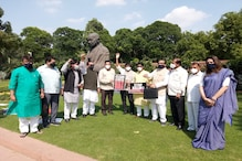 Congress MPs from Punjab Burn Copies of Farm Bills, Party Protests in Parliament