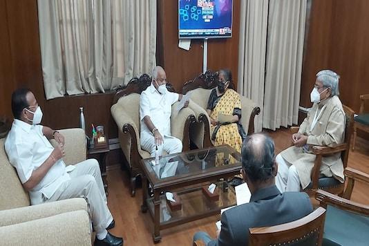 Karnataka Chief Minister B S Yediyurappa shared this picture on his Twitter handle.