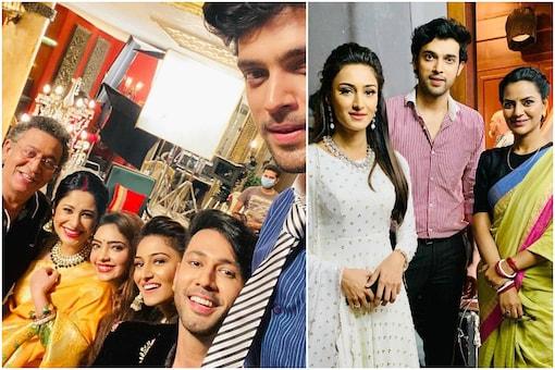 Actors on 'Kasautii Zindagii Kay' set