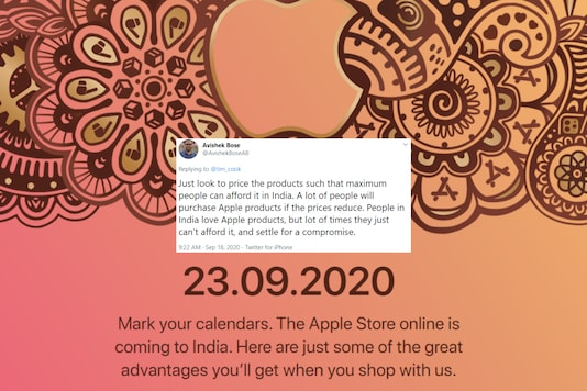 Apple online store India.