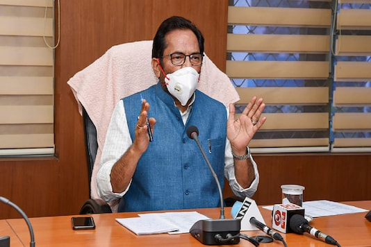 Union Minister for Minority Affairs and Chairman, Central Waqf Council, Mukhtar Abbas Naqvi in New Delhi. (Image: PTI)