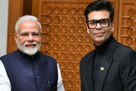 PM Modi and Karan Johar