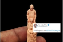 Artist Creates Miniature Sculpture of Narendra Modi on His 70th Birthday, Even the PM is Impressed