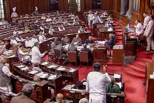 File photo of proceedings in the Rajya Sabha. (PTI)
