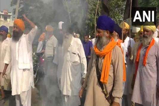Farmers hold a protest demonstration against the Centre over recent agriculture ordinances in Amritsar. (For representation)