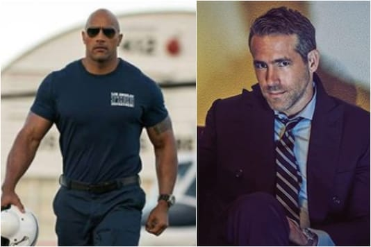 Dwayne Johnson (L), Ryan Reynolds