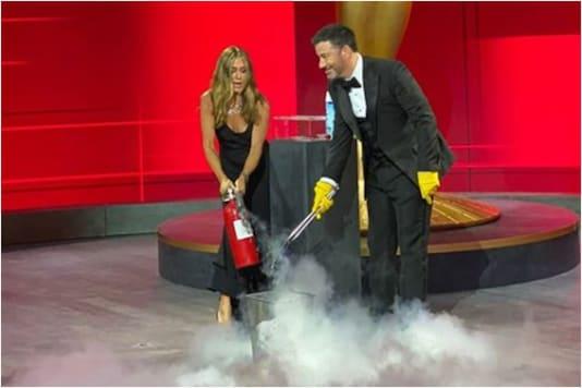 Jennifer Aniston and Jimmy Kimmel