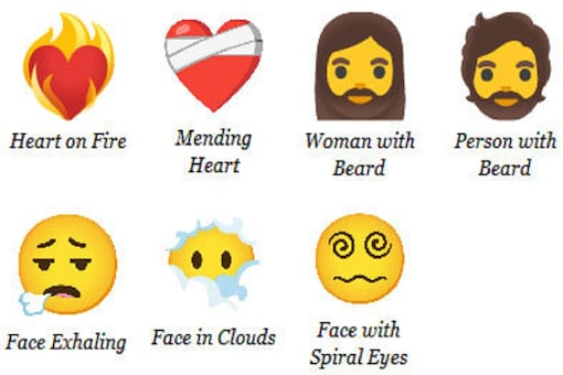 The newly released 7 emojis. (Credit: twitter)