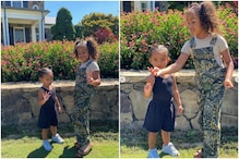 Kim Kardashian Shares Photos of Daughter North West Teaching Sister Chicago How to Make Peace Sign