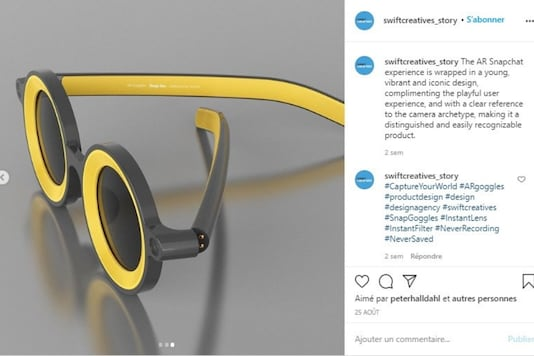 These glasses apply Snapchat filters to real life. (AFP)