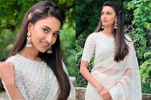 Kasautii Zindagii Kay Star Erica Fernandes Poses in White Shimmery Saree, See Stunning Pics
