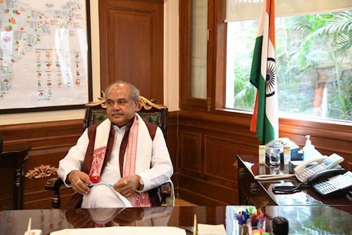 Union Agriculture Minister Narendra Singh Tomar (Image: Twitter/IANS)