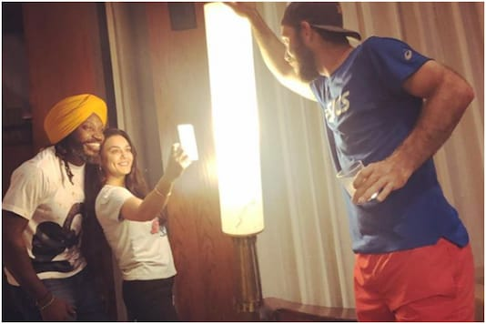 Preity Zinta with Chris Gayle