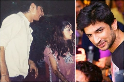 Sushant Singh Rajput with sister (L)