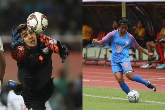 Gurpreet Singh Sandhu (L) and Sanju Yadav (Photo Credit: AIFF)