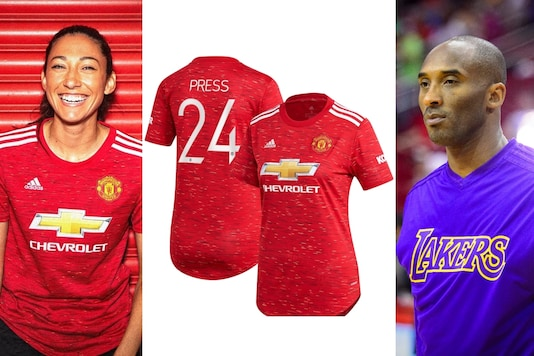 Christen Press honoured Kobe Bryant with No.24 jersey (Photo Credit: Manchester United Women Instagram and Reuters)