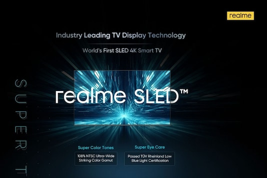 Realme SLED will be launched in India soon. (Image Credit: Realme)