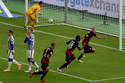 Hertha Berlin lost to Eintracht Frankfurt. (Photo Credit: Reuters)