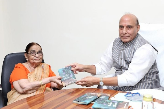 Defence Minister Rajnath Singh launched 'A bouquet of flowers', a book written by author Dr Krishna Saksena.