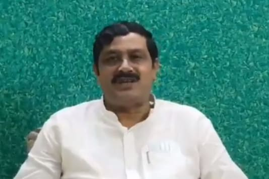 Former BJP National Secretary Rahul Sinha in a screengrab from his video he posted on Twitter. (Credits: Twitter)