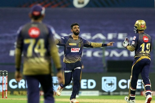 Varun Chakaravarthy celebrates a wicket. (Image: IPL/BCCI)