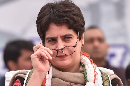 AICC general secretary Priyanka Gandhi Vadra during the party's 135th foundation day at UPCC HQ in Lucknow, on December 28, 2019. (PTI Photo)