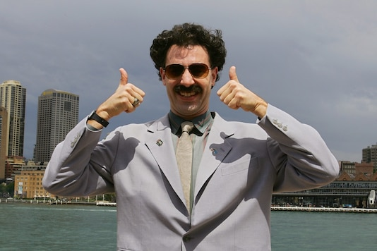File photo of British actor Sacha Baron Cohen as Kazakh TV reporter known as 'Borat'. (Credit: REUTERS)