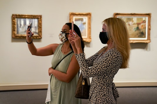 With galleries taking time to open, artists have resorted to social media to sell art pieces. (REUTERS)