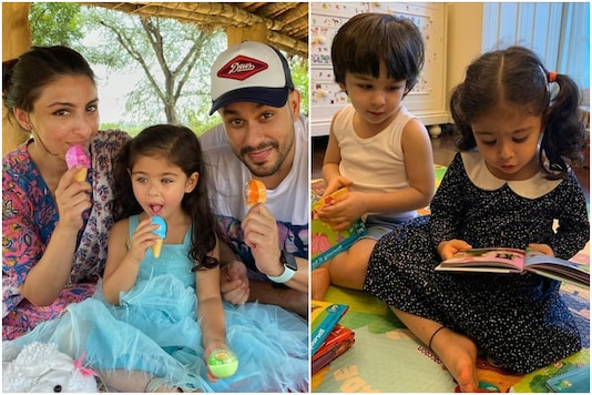 Kareena Kapoor Khan, Soha Ali Khan Post Adorable Pictures as Inaaya Turns 3
