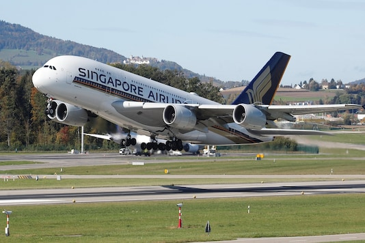 File photo of an Airbus A380-800 aircraft of Singapore Airlines taking off. (Image for representation.)