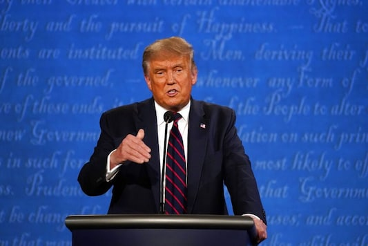 President Donald Trump speaks during the first presidential debate with Democratic presidential candidate former Vice President Joe Biden Tuesday, Sept. 29, 2020, at Case Western University and Cleveland Clinic, in Cleveland. (AP Photo/Julio Cortez)