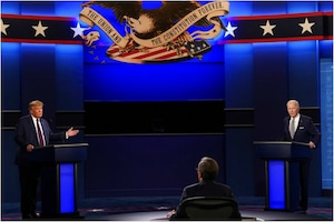 Pictures From Trump-Biden's Chaotic Presidential Debate