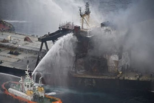 Sri Lanka Tows Stricken Oil Tanker Out To Sea, Douses Fire