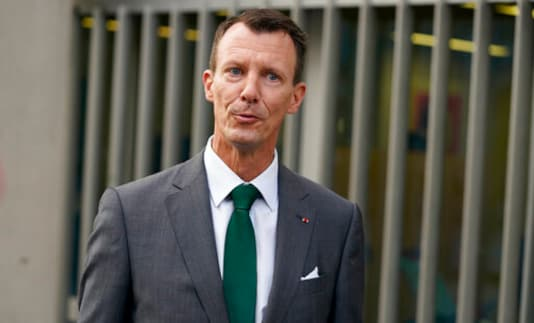 Denmark's Prince Joachim walks to work, at the Danish Embassy in Paris, France, Friday, Sept. 18 2020. Prince Joachim, the younger son of Queen Margrethe of Denmark, who underwent an emergency surgery in France in July for a blood clot in his brain, says he is eager to get started as he arrived for his first work day at the Danish Embassy in Paris. The 51-year-old prince spoke to reporters outside the Danish mission where he will be defense attache. Joachim was rushed to the Toulouse University Hospital on July 24.  (Mads Claus Rasmussen/ Ritzau Scanpix via AP)