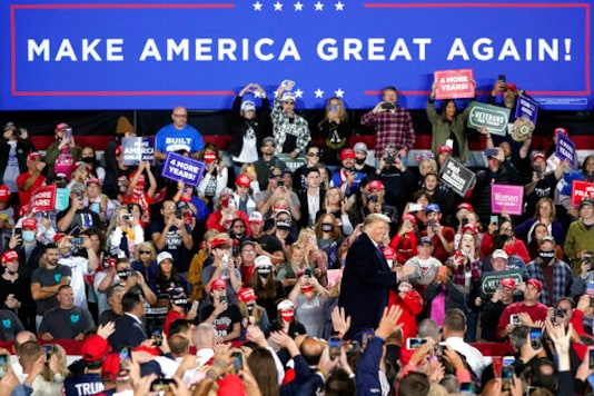 President Donald Trump speaks at a campaign rally, Tuesday, Sept. 22, 2020, in Moon Township, Pa. (AP Photo/Keith Srakocic)