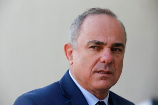 FILE - In this Jan. 14, 2019 file photo, Israel Energy Minister Yuval Steinitz, speaks during an interview with The Associated Press, in Cairo, Egypt.  An Israeli official says, Saturday, Sept. 26, 2020,  the country will hold rare talks with Lebanon next month in an effort to resolve a longstanding maritime border dispute. The official says  Steinitz will lead the Israeli delegation in talks mediated by the United States. (AP Photo/Amr Nabil, File)