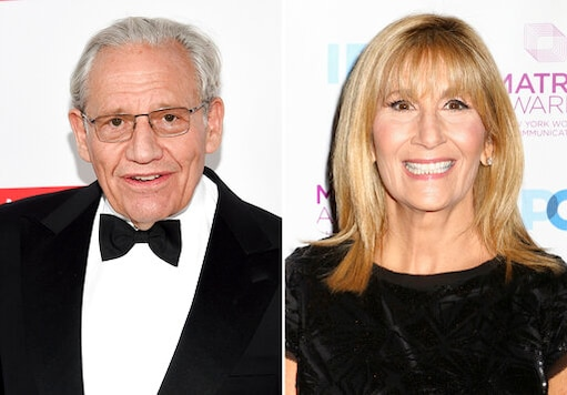 In this combination photo, honoree Bob Woodward, left, attends the PEN America Literary Gala on May 21, 2019, in New York and Jamie Gangel attends the New York Women in Communications Matrix Awards on April 25, 2016, in New York. Woodward, the author of