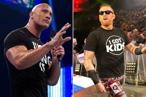 The Rock (L) and Heath Slater (Photo Credit: WWE)