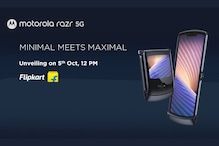 Moto Razr 5G is Coming to India on October 5, Will be Sold on Flipkart