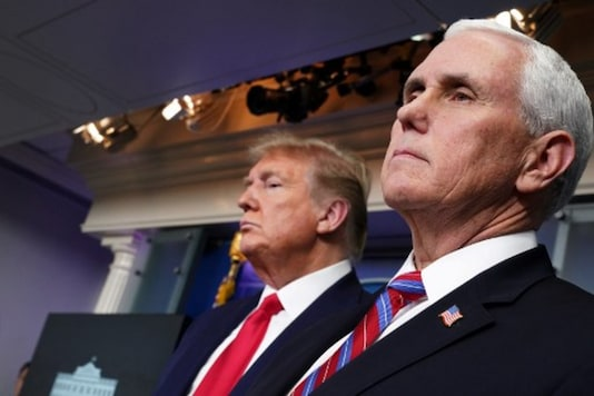 A file photo of US Vice President Mike Pence with President Donald Trump. (AFP)